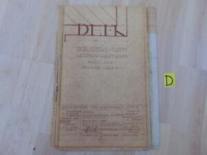 Angemessen Dhfk Biblioteks-turm Laternen-hauptgesims Masst.1=1 Proj.-nr. Hohe QualitäT Und Preiswert L 56/515/1 1955