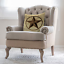 Moslion Throw Pillow Cover Texas Star 18x18 Inch Vintage Western Style Retro for