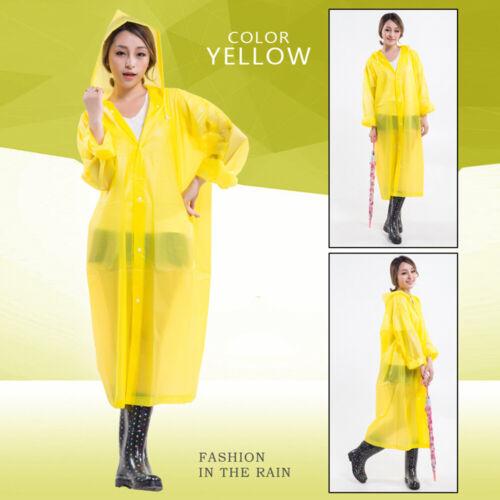 Raincoat Waterproof Poncho Reusable Plastic Adult Camping Festival Rain Coat top