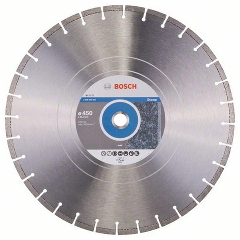 Bosch Diamant Trennscheibe Standard for Stone 450x25,40x3,6x10 mm, 1er VE