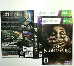 MANUAL-AND-ARTWORK-ONLY-NO-GAME-XBOX-360-Rise-of-Nightmares