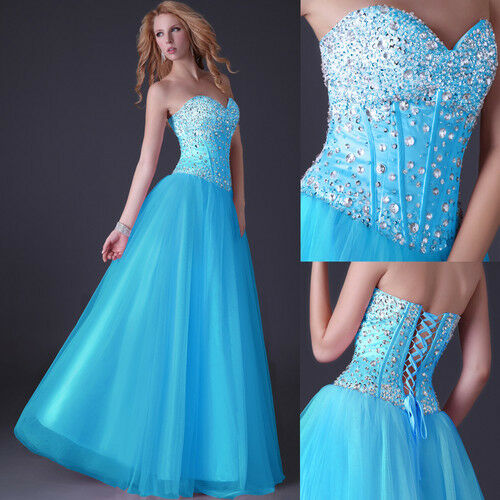 GK Sweetheart Floor Length Tulle Evening Ball Gown Prom Dress Quinceanera Dress