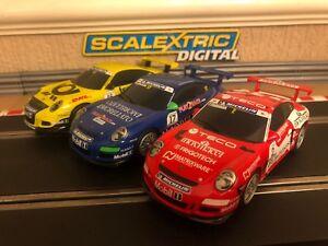 Scalextric Digital Porsche 997 Excellente condition Entièrement viabilisée