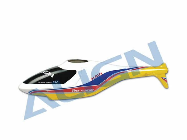F3C FUSELAGE - YELLOW (TREX 250)