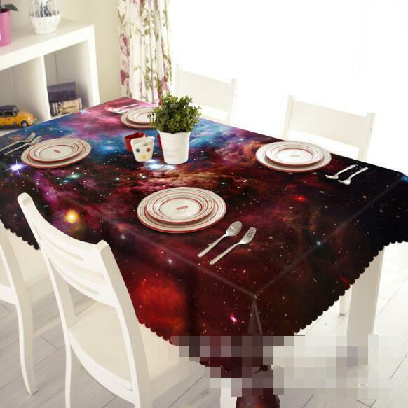 3D rouge Stars 5 Tablecloth Table Cover Cloth Birthday Party Event AJ WALLPAPER AU