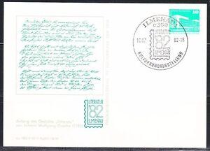 Germany-DDR-1982-card-Wolfgang-Goethe-Literature-Ilmenau-meeting-Poet-writer