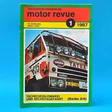DDR | CSSR-Motor-Revue Motorrevue 1/1987 | Skoda 130 LR Tatra Liaz Stella Jawa