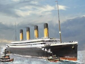 RMS-Olympic-Iconic-Ship-History-Maritime-Painting-Wall-Art-Canvas-Pictures
