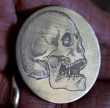 Ike Dollar Hobo Nickel Carved Skull Haloween Death's Head Coin
