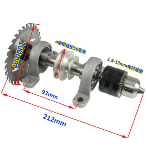 Lathe Bead Polisher DIY Spindle Chuck Bearing Seat Bench Saw Drill Rotary Lathe