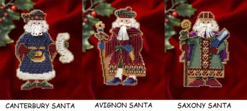 MILL HILL Counted Glass Bead Cross Stitch Kits SANTAS Choose Your Set of 3