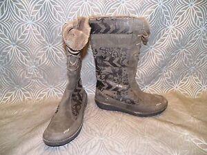 fc4bfe94d36b2b New Womens TEVA Kiru Beluga Graphic Fur Lace Up Zip Up Winter Boots ...