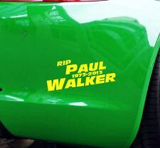 Aufkleber RIP Paul Walker Auto JDM Tuning OEM Decal Stickerbomb 15x6 cm gelb