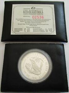 Australien-1-Dollar-1991-Kookaburra-1-Oz-Silber-PP