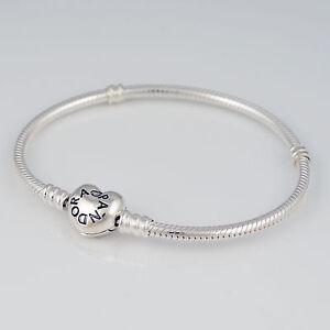 Image Is Loading Genuine Pandora Silver Heart Clasp Bracelet 590719