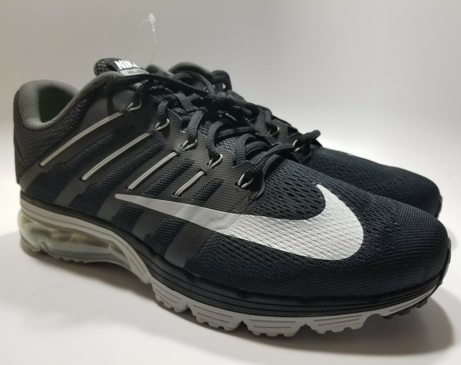 Nike Air Shoes, Max Excellerate 4 Men Athletic Shoes, Air Black/White/Dark Grey, 806770-010 769863