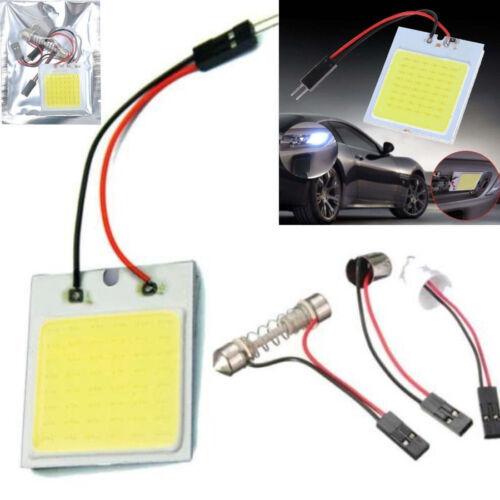 White COB 48 SMD 12V LED Plate Car Interior Dome Light Bulbs T10 Festoon Lights