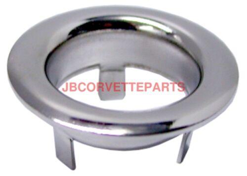 1963-1967 Corvette Jack Cover Finger Hole Bezel Chrome NEW