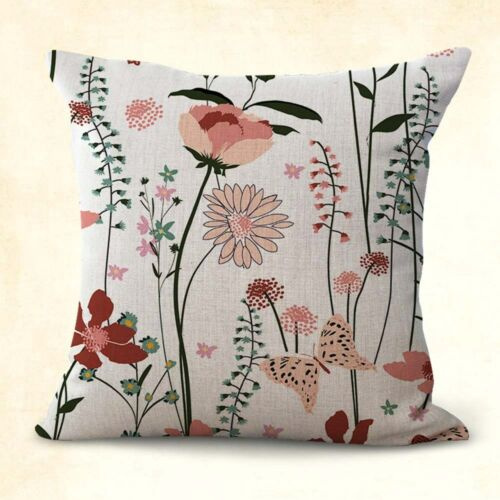 2PCS summer spring florals twits cushion cover pillow sofa US SELLER