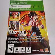 Dragon Ball XenoVerse SOLDIER SUITS DLC CARD (Xbox 360) #2097