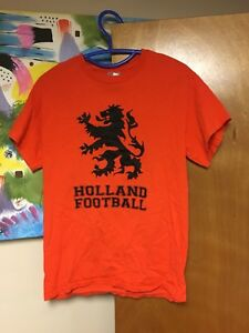 Image is loading Holland-Football-Oranje-T-shirt-Small-Orange-Dutch- f250f8a71