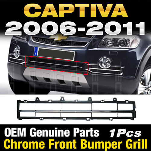 OEM Genuine Parts Chrome Front Bumper Grill 1Pcs For Chevy 2006-2011 Captiva