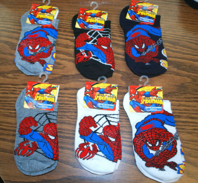Pack of 6 Pairs Socks SPIDER-MAN Pattern Color Assorted 1 FREE PAIR
