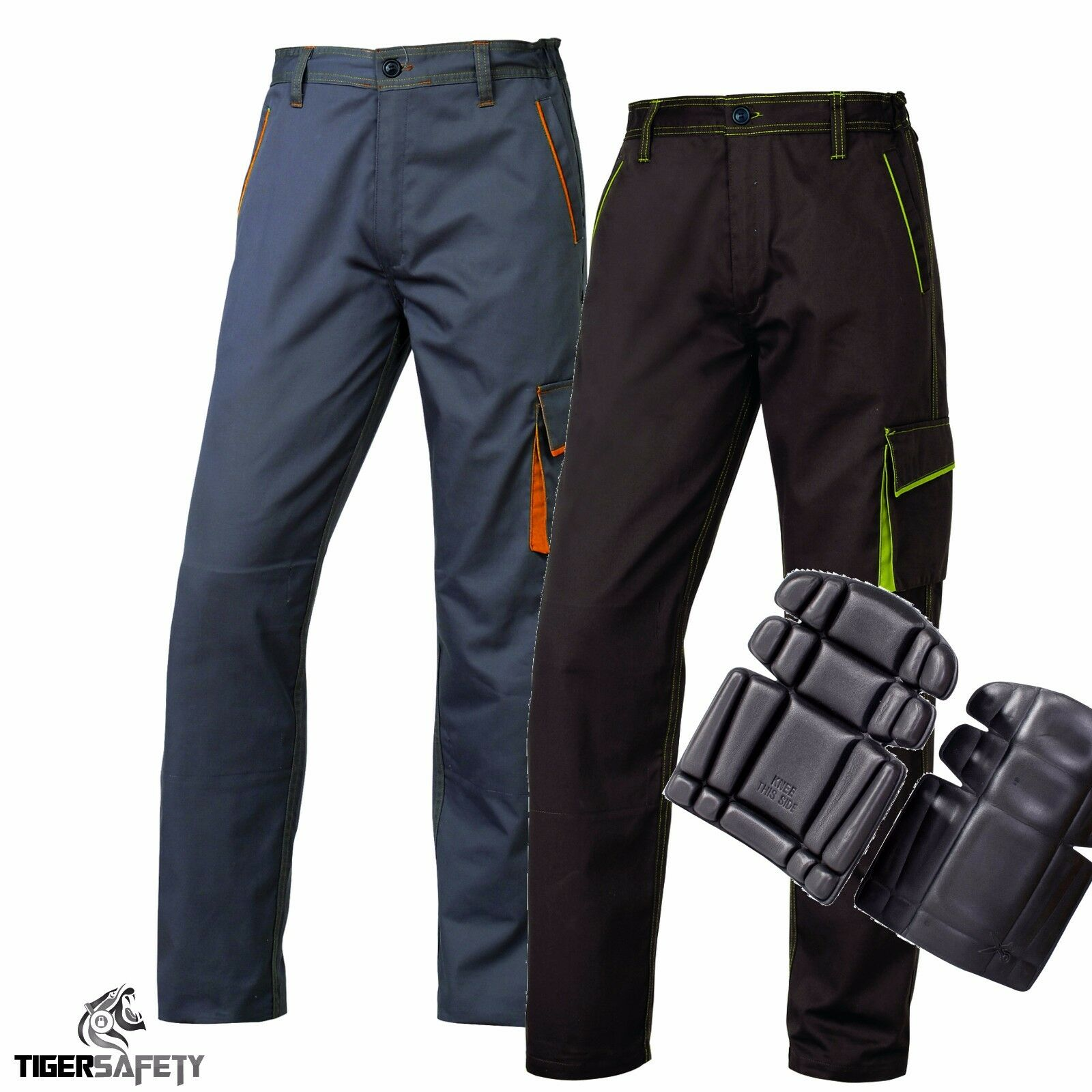 Delta Plus Panoply M6PAN Panostyle Mens Work Action Cargo Trousers + Kneepads