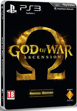 God Of War Ascension Special Steelbook Edition PS3 * NEW SEALED PAL *