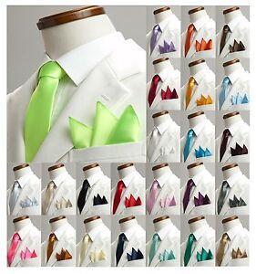 Cravate-Etroite-GRATUIT-Foulard-Pochette-de-costume-unisexe-Chemise-slim