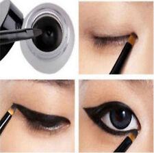 New Cosmetic Waterproof Eyeliner Shadow Eye Liner Gel Makeup + Brush Black EY
