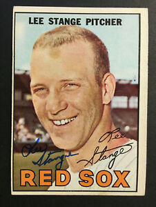 Lee-Stange-Red-Sox-signed-1967-Topps-baseball-card-99-Auto-Autograph