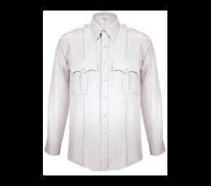 Police-Security-White-Long-Sleeve-Uniform-Shirt-Military-Crease-Elbeco-Tex-Trop