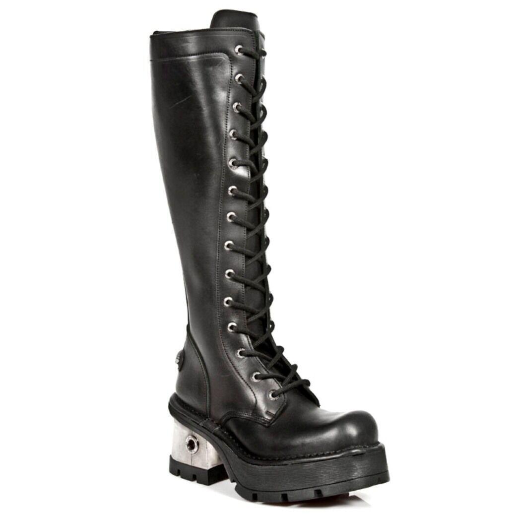 New Rock botas Para Mujer Estilo Estilo Estilo 236 S1 Negro  genuina alta calidad