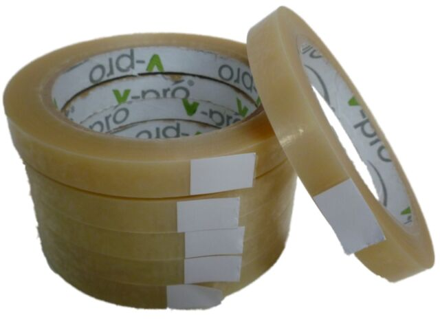 6 Roll Clear Sellotape Packing Parcel Tape 24mm x 66m