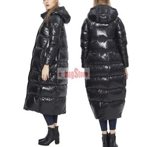aa2ab117c0439 Image is loading Womens-Loose-Thick-Duck-Down-Jacket-Hooded-Coats-