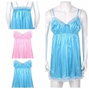 Sissy-Men-Lingerie-Lace-Nightwear-Crossdresser-Sexy-Underwear-Pajamas-Nightdress
