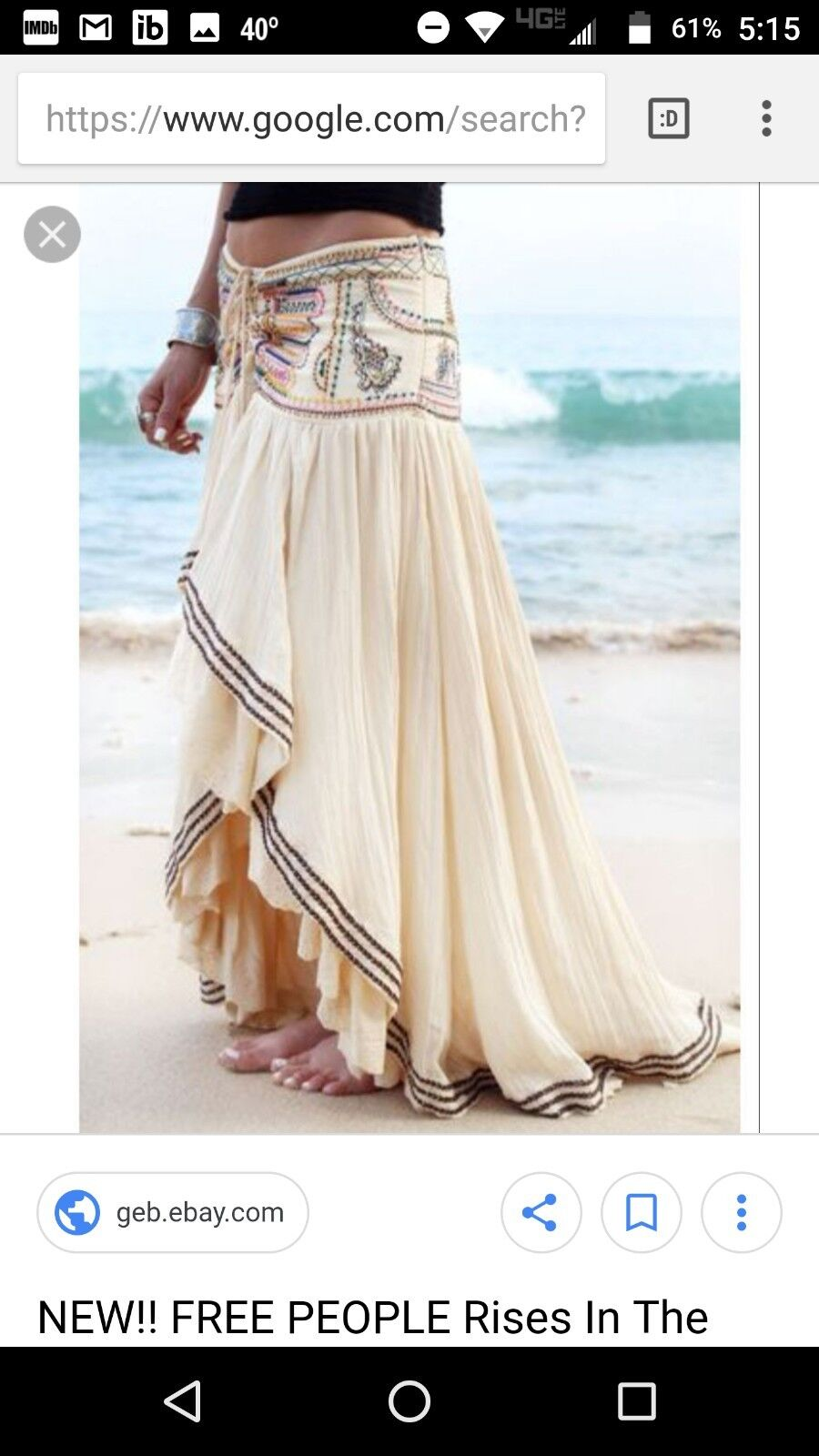 Free people sin rises in the east skirt, nwt, 8