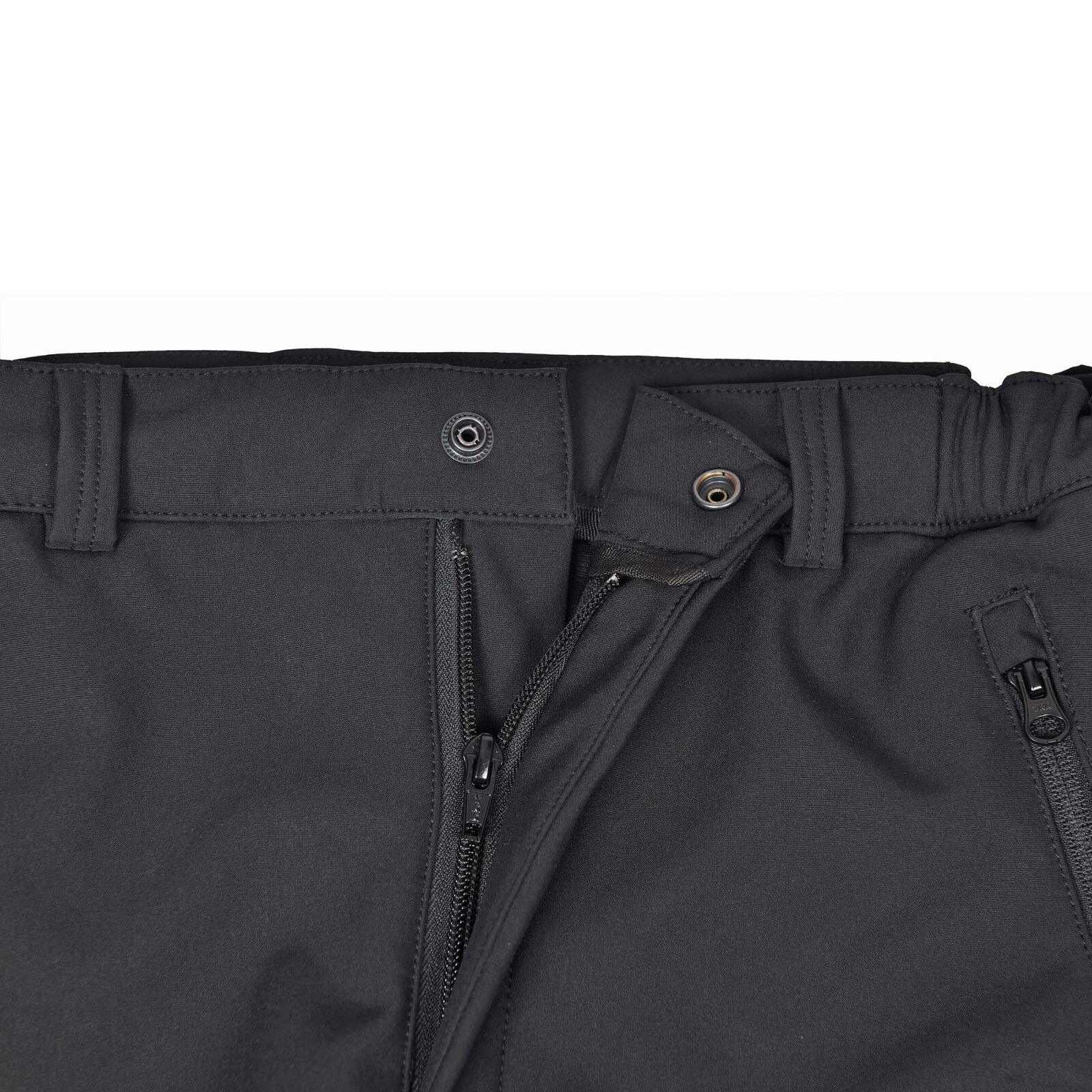 Men/'s Hydrofuge Softshell Polaire Doublé Pantalon Cargo Extérieur Coupe-vent SSP-1