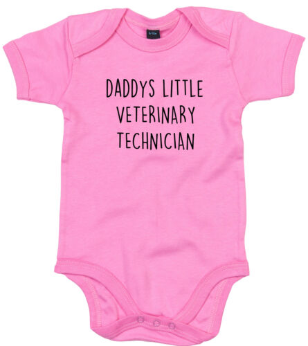 VETERINARY TECHNICIAN BODY SUIT PERSONALISED DADDYS LITTLE BABY GROW GIFT