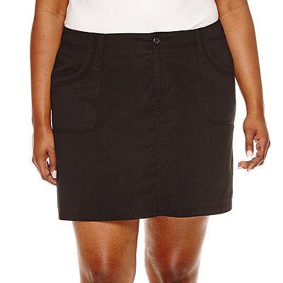 12 St 16 8 John/'s Bay Black Cotton Blend Skort Size 4 6 14 10