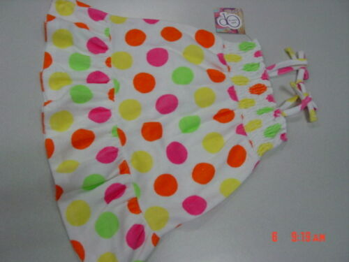 NWT Toddler Girls White Polka Dots Beach Coverup Sun Dress Op Summer Swim