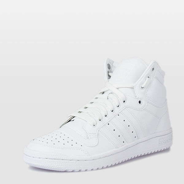 ADIDAS - TOP TEN HI WHITE Leather Mens SIZE 13 FAST FREE SHIPPING