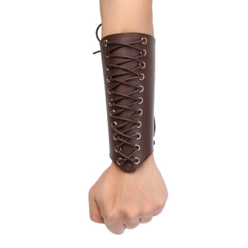 New Archery Arm Guard Handmade Lace-up Cow Leather Traditional Bow Hunting