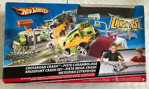 Mattel-Hot-Wheels-accidente-conjunto-de-pista-no-Crashers-cruce-coches-Incluido