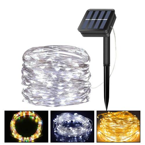 10M Solar String Lights Fairy Copper Wire Waterproof Outdoor Indoor Decor Lights