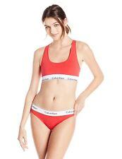 c74bfd7d2e7 Calvin Klein Modern Cotton Bralette and Bikini Gift Set Qf1693 Red M ...