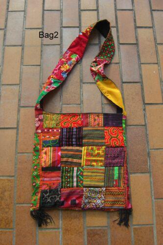 Tasche Bag Sac tribal ethno Hmong Patchwork Goa Psy Indien Inde Nepal ethno UV