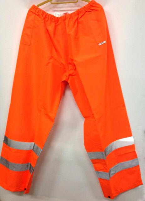 JSP Foul Weather Reflective Hi-Vis Trousers Orange Waterproof 4XL