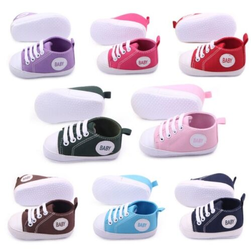 0-18Months Newborn Baby Infant Toddler Sneakers Boys Girls Soft Sole Crib Shoes